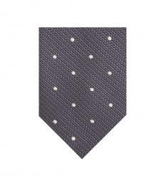 Grey Dot Tie