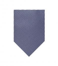 Michael Kors Navy Diagonal Geometric Silk Tie