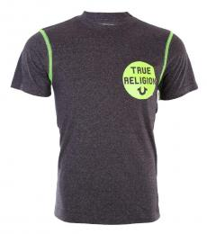 True Religion Black Neon Crew Washed T-Shirt