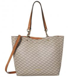 Karl Lagerfeld Almond/Taupe Adele Large Tote