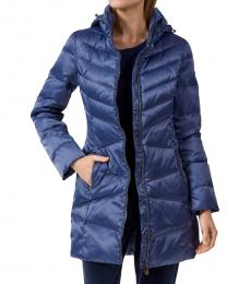 Emporio Armani Dark blue Long Down Jacket