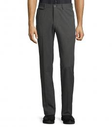 Hugo Boss Dark Grey Slim-Fit Micro Trousers