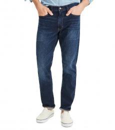Dark Blue Straight-Fit Flex Jeans