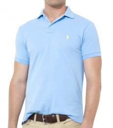 Ralph Lauren Blue Classic Fit Mesh Polo