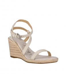 Calvin Klein Ivory Betsy Strappy Wedges