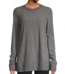 DKNY Grey Split-Hem Top