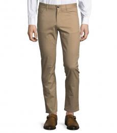 Michael Kors Khaki Parker Slim Fit Stretch Pants