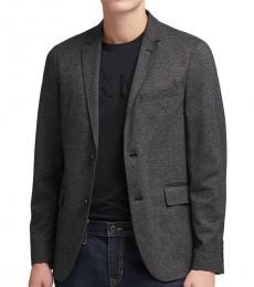 Charcoal Knit Blazer
