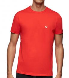 Red Logo Solid T-Shirt