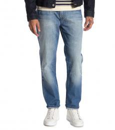 True Religion Blue Geno Flap Slim Jeans