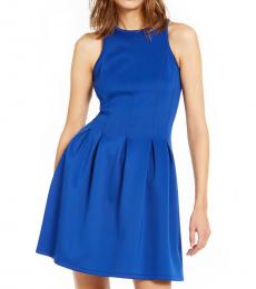 Royal Blue Scuba Fit & Flare Dress