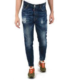 Dsquared2 Blue Denim Stone Washed Jeans