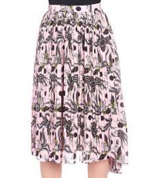 Kenzo Pink Flared Skirt