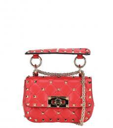 Valentino Garavani Red Spike Micro Shoulder Bag