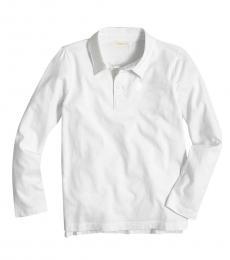 J.Crew Little Boys White Long Sleeve Polo