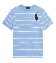 Ralph Lauren Boys Austin Blue Multi Striped T-shirt