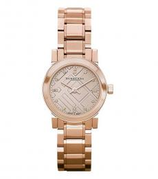 Burberry Rose Gold The City Watch