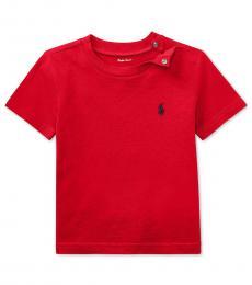 Ralph Lauren Baby Boys Red Crew Neck T-Shirt