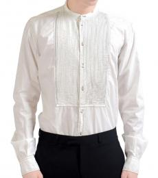 Dolce & Gabbana White Button Down Dress Shirt