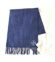 Marlin Blue Whip Stitch Scarf