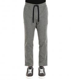 Grey Tweed Solid Joggers