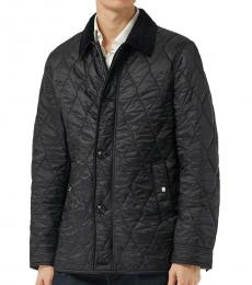 Burberry Black Quilted Fur Collar Jacket