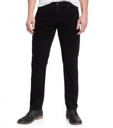 AG Adriano Goldschmied Black Graduate Tailored-Leg Corduroy Pants
