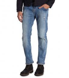 True Religion Blue Rocco No Flap Skinny Jeans