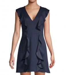 Dark Navy Eve Ruffle Mini Dress