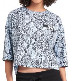 DKNY Aqua Bonded Pocket Crop T-Shirt