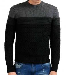 Black Knitted Crewneck Sweater