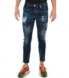 Dsquared2 Blue Stonewashed Skater Jeans