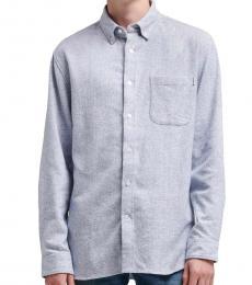 Grey Brushed Long-Sleeve Shirt