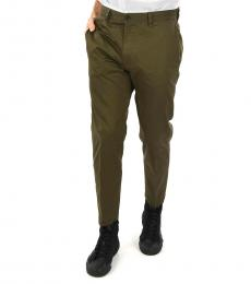 Olive Cotton Madox Pants