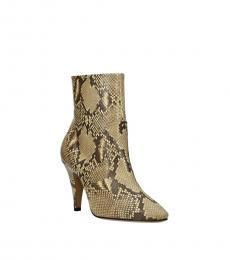 Celine Snake Print Leather Boots
