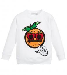 Stella McCartney Little Girls White Graphic Sweatshirt