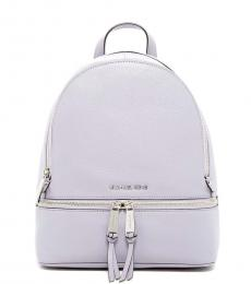 White/Silver Rhea Zip Medium Backpack
