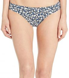 Navy Blue Ditzy Print Hipster Bottoms
