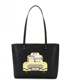 Karl Lagerfeld Black Taxi Maybelle Small Tote