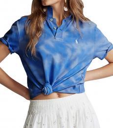 Ralph Lauren Blue Classic Fit Frayed Polo T-Shirt
