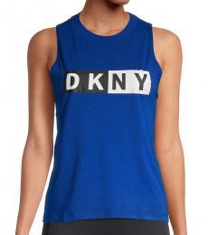 DKNY Lapis Logo Tank Top