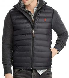 Ralph Lauren Black Down Packable Puffer Vest