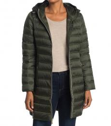 Michael Kors Olive Packable Puffer Jacket