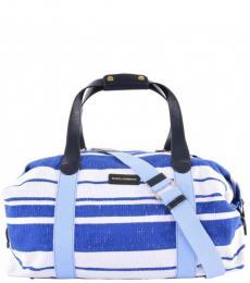 Dolce & Gabbana White Blue Boston Large Duffle Bag