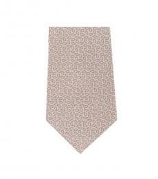 Michael Kors Yellow Timeless  Printed Slim Silk Tie