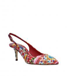 Multicolor Slingback Heels