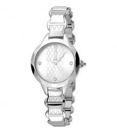 Just Cavalli Silver Decisive Time Piece
