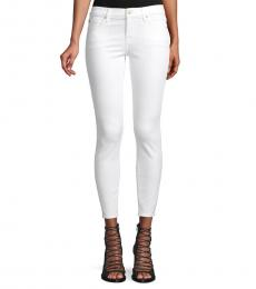 7 For All Mankind White Gwenevere Ankle Jeans