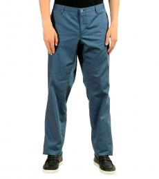 Hugo Boss Blue Stretch Casual Pants