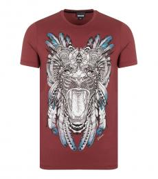 Just Cavalli Cherry Printed Front T-Shirt
